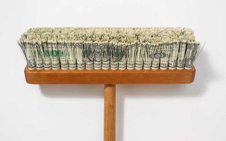 World's Most Expensive Broom Uses Dollar Bills As Bristles