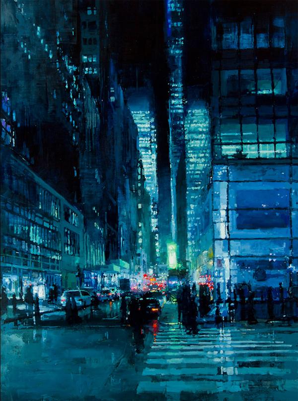 Jeremy Mann's Eery Urban Oil Paintings