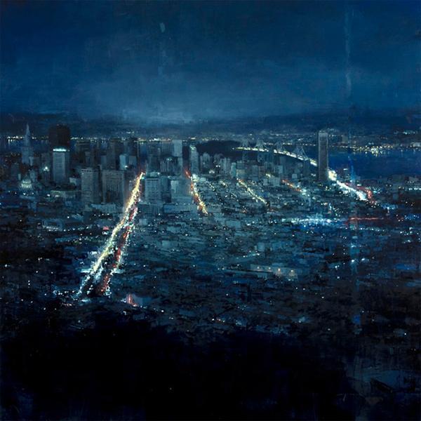 Jeremy Mann's Urban Oil Paintings