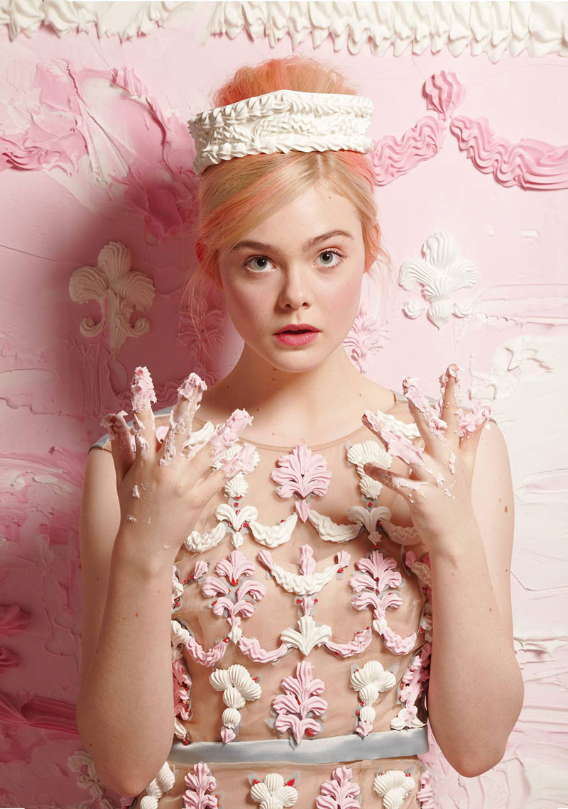 Elle Fanning in Fantasia by Will Cotton for New York Magazine
