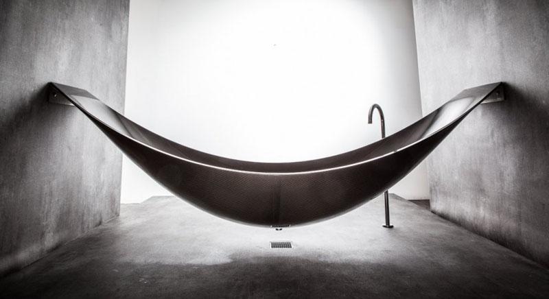 Vessel Bathtub Is Like A Hammock