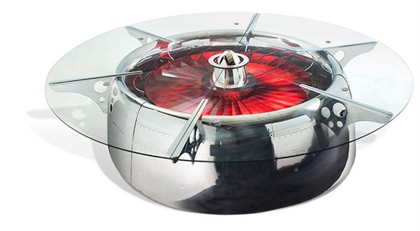 MotoArt's Conference Table, Made From a Boeing 747's Engine