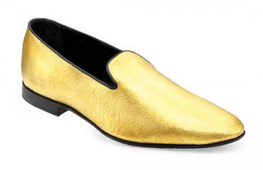 24-Karat Gold Velvet Shoes