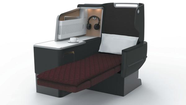 Qantas' Redesigned Business Suites, flat bed