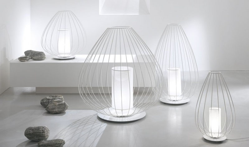 Modern Lamp Collection Takes Inspiration From Traditional Chinese Design , In A White Room