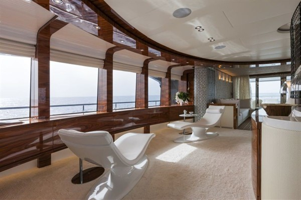 Vicem 46M Yacht Wins Interior Design Award, Cabin With a View