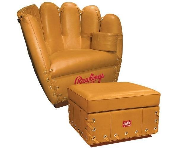 rawlings baseball glove chair   american luxury