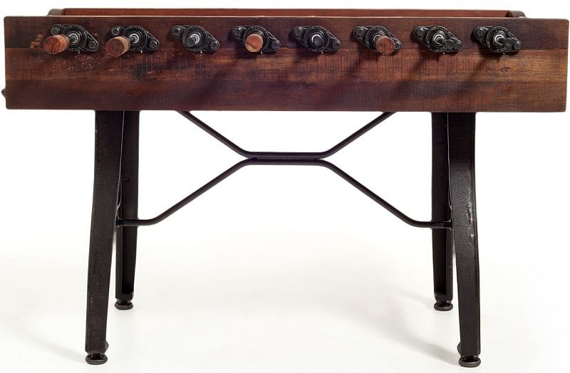 Foosball Table with Vintage Looks, Handles