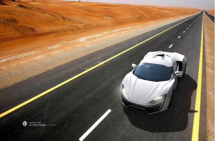 $3.4M Lykan Hypersport Features Holographic Navigation, On The Road
