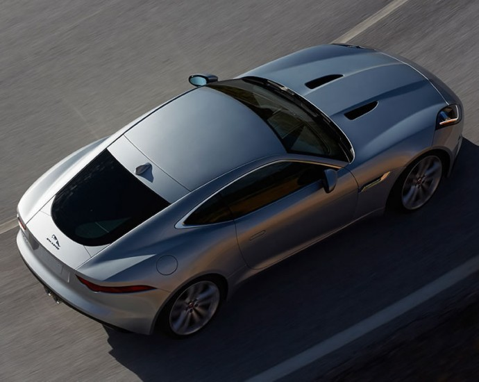 Jaguar F-Type Coupe, Arial View
