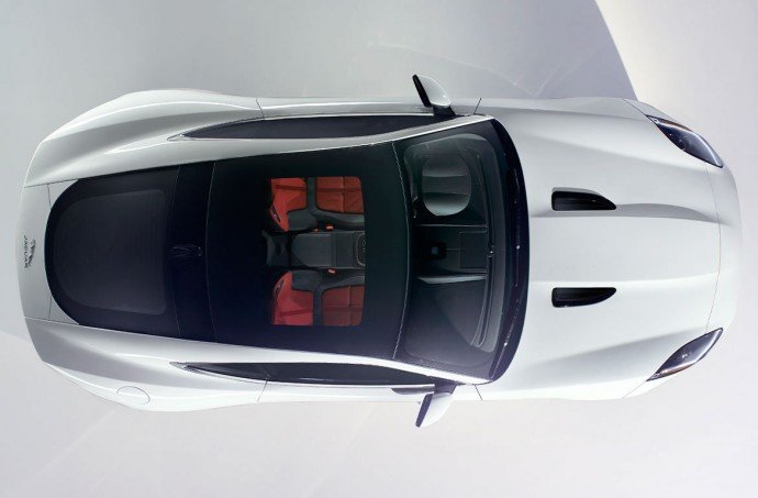 Jaguar F-Type Coupe, Showroom Arial View