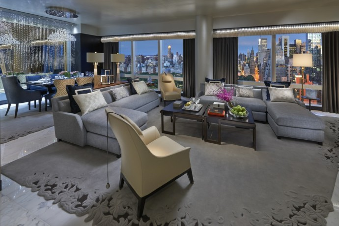 Suite 5000 at Mandarin Oriental NY, Living Area