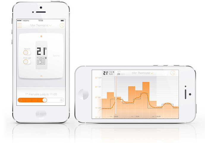 Netatmo Wireless Thermostat, Vertical and Horizontal