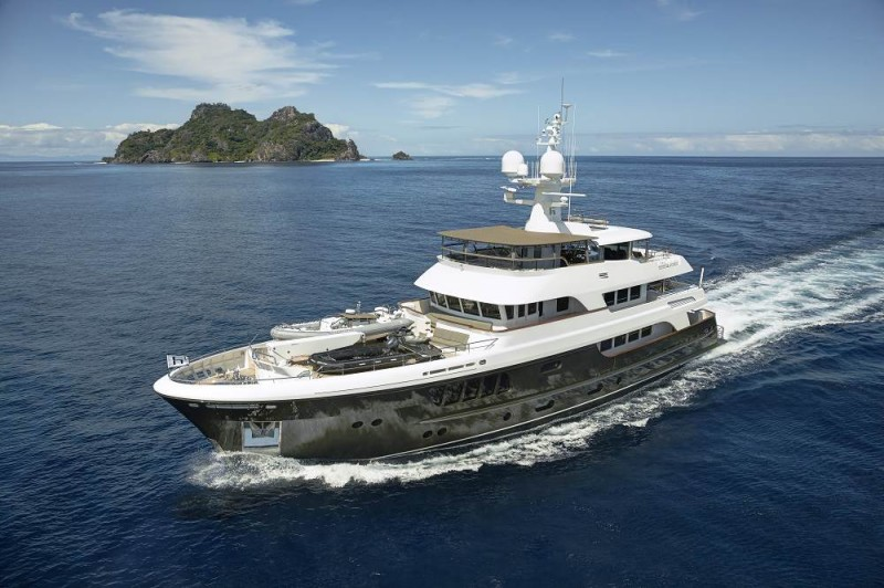 CaryAli by Alloy Yachts, On The Water