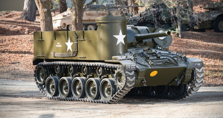 Fully Functional M37 Howitzer Tank Headed for Auction