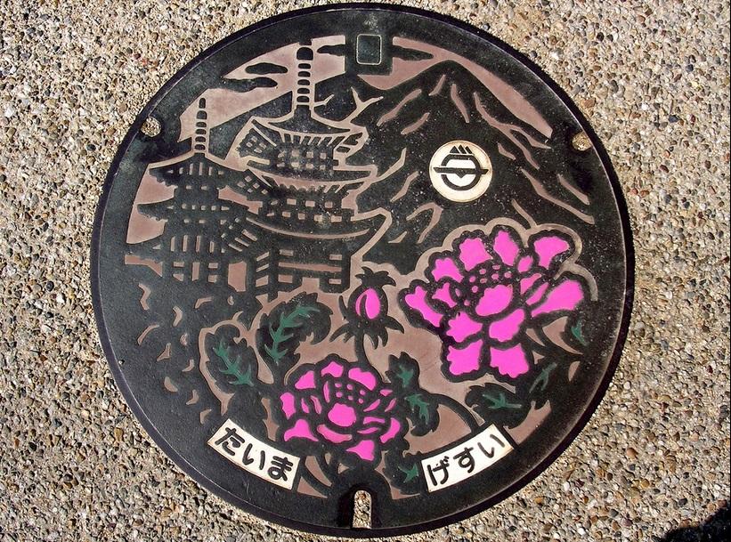 Manhole Cover Art in Japan