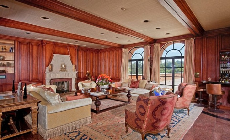 """""""The Godfather"""" Mansion on Sale for $135M, Living Room"""