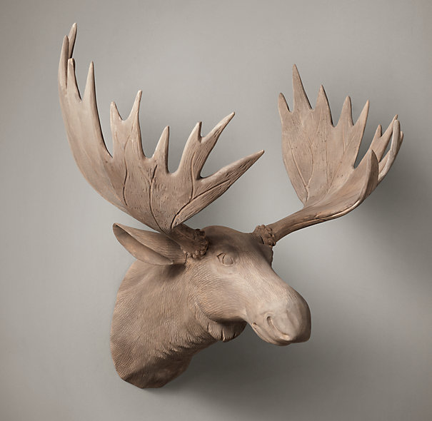 Hand Carved Game Trophies From Restoration Hardware