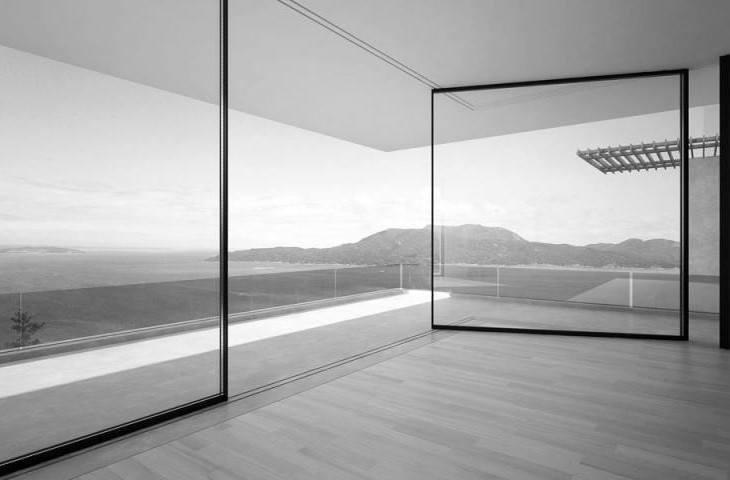 These floor to ceiling windows slide around corners - What are floor to ceiling windows called ...