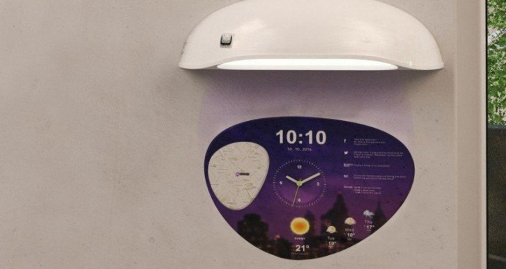 This Wall-Projecting Clock Can Display Weather, Tweets, Family's Location on a Map, and More