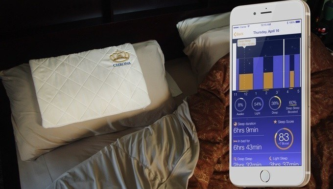 Chrona Smart Pillow Uses Delta-Frequency Sound Waves to Enhance Deep Sleep