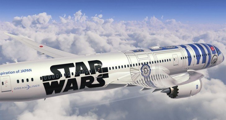 Japan's ANA Airlines Unveils Star Wars-Inspired Dreamliner