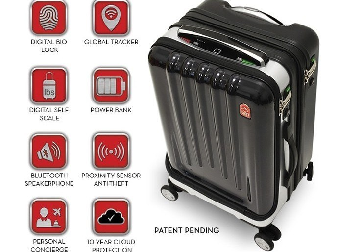 Gps Tracking Devices For Cars >> Space Case 1 Luggage Features Biometric Lock, GPS ...