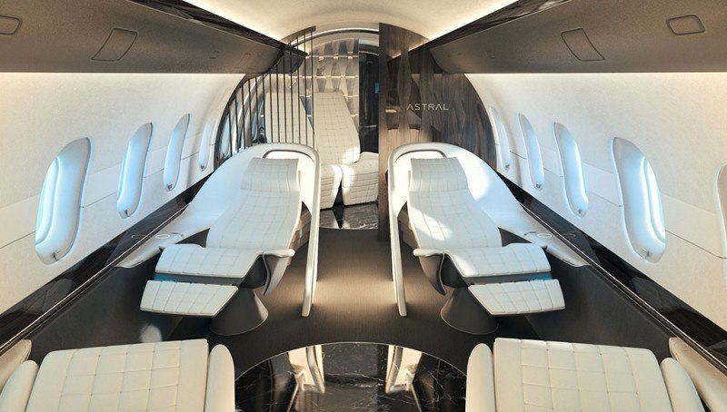 swiss company yasava unveils private jet interior concept american luxury. Black Bedroom Furniture Sets. Home Design Ideas