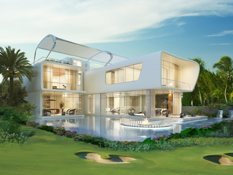 Dubai Gets Bugatti Styled Homes Overlooking Trump World Golf Club Dubai By Tiger Woods Design on classic american style bedroom