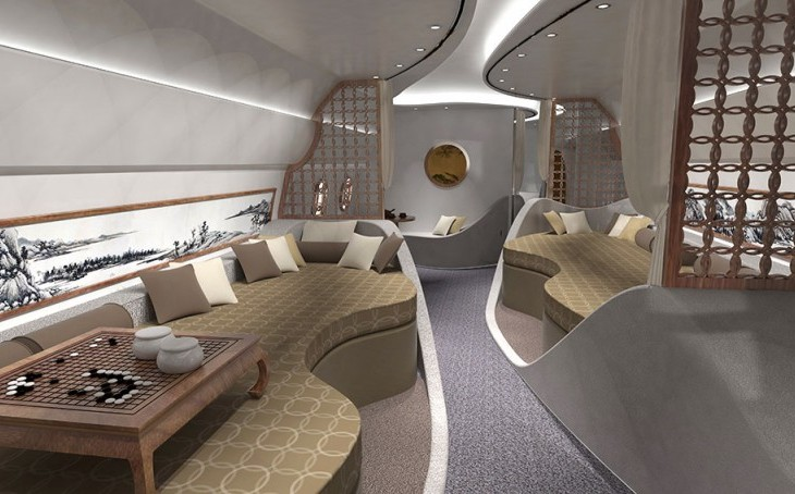 Haeco Offers Feng Shui Private Jet Interior