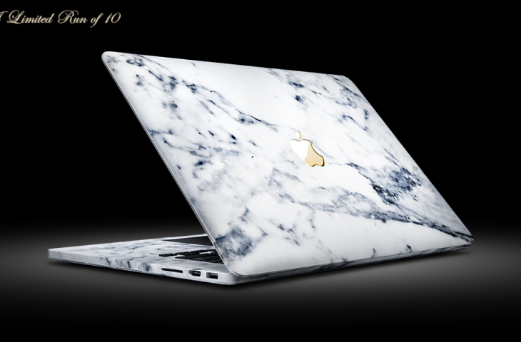 This $7500 MacBook Pro Is Finished in Marble and 24k Gold