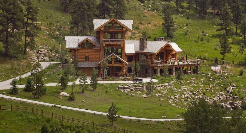 Colorado Mansion With Rocky Mountains View American Luxury