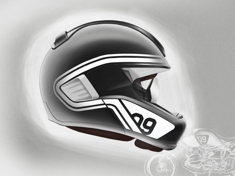 bmw helmet equipped with head up display and rearview. Black Bedroom Furniture Sets. Home Design Ideas