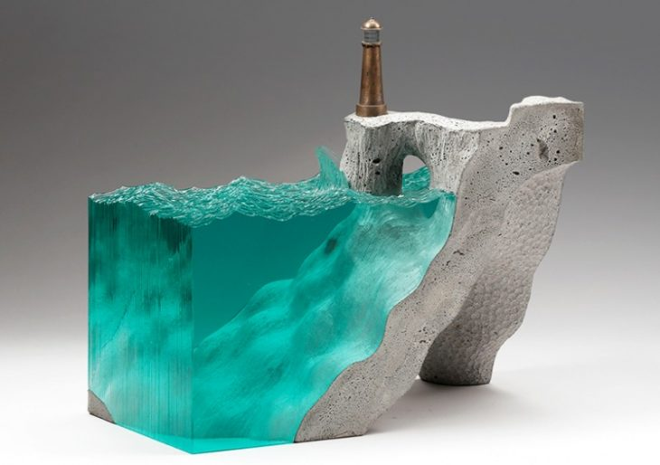 Glass and Concrete Sculptures by Artist Ben Young
