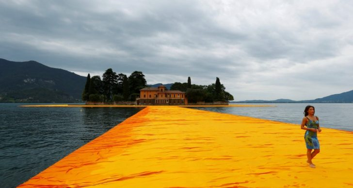 Christo's Newest Project, 'The Floating Piers,' Opens in Italy to Great Fanfare
