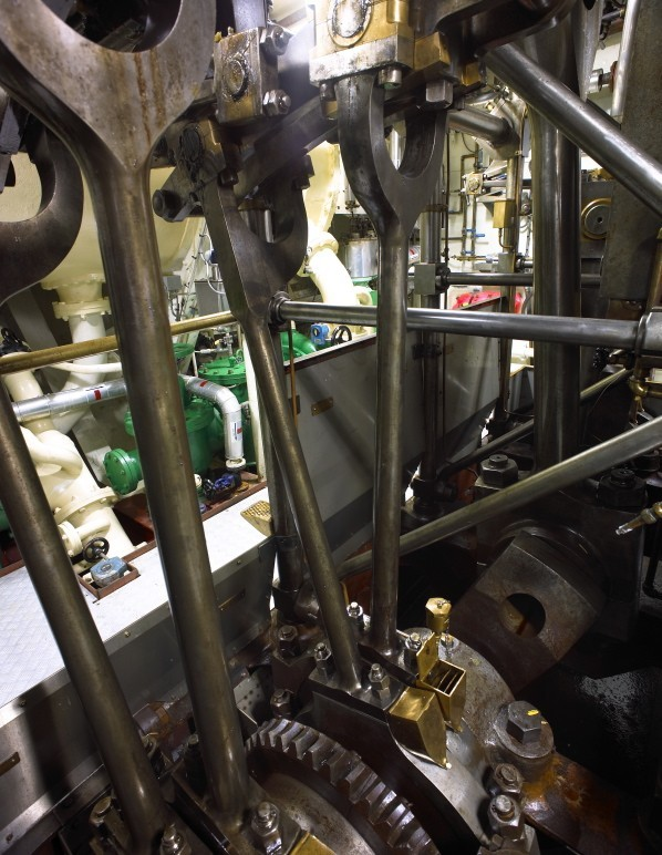 Luxury Yacht Engine Room: Historic Steam-Powered SS Delphine Super-Yacht Hits Market