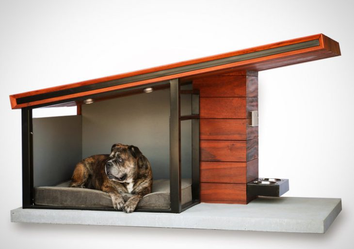 Rah Design S Mdk9 Is A Teak And Steel Dog House For The
