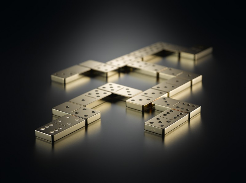 Domino Set Made From Solid Gold And Diamonds Is Shimming