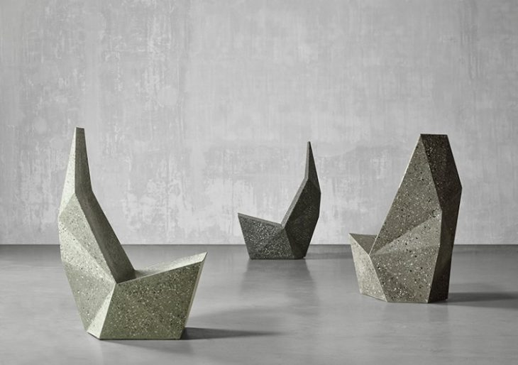 Form Over Function concrete chairs unveiled at miami design week definitively