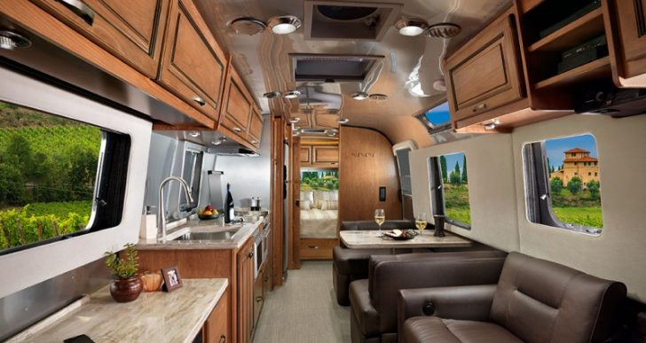 $135K Mobile Luxury Living Room for Upscale Road Trips: Airstream's Contemporary/Classic Trailer XL