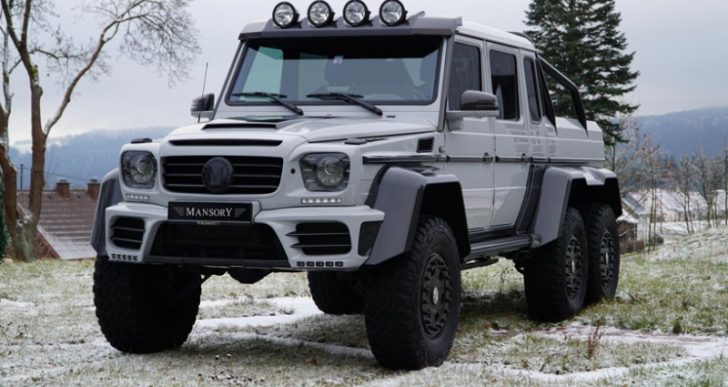 Mansory's 829-Horsepower Mercedes-AMG G63 6×6 Is a Cross-Country Workhorse