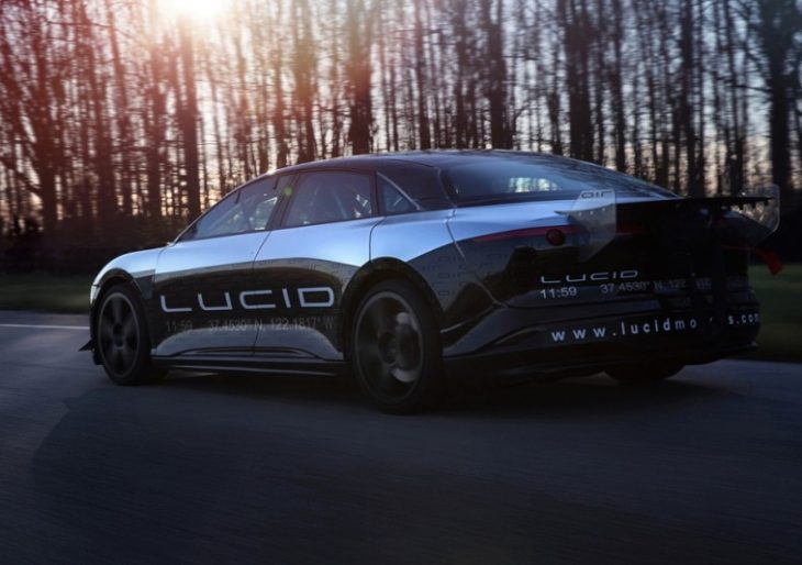 the lucid air is an electric car with a top speed of 217