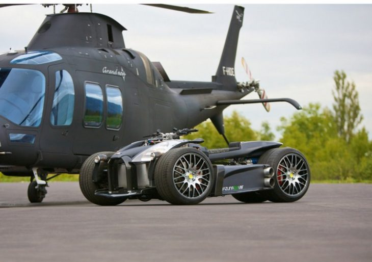 This Matte Black Four-Wheeler Comes with a Ferrari Engine and a BMW Gearbox