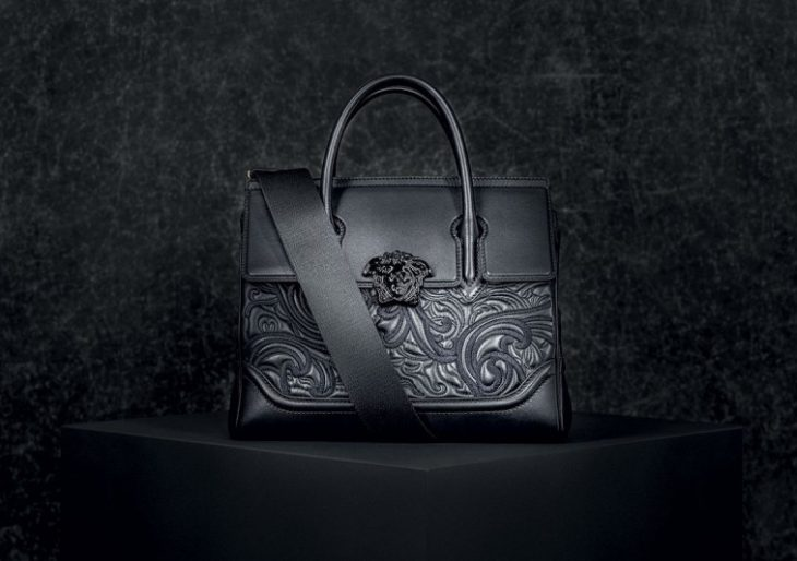 Versace's Baroque Embroidered Palazzo Empire Bag Will Turn You to Stone