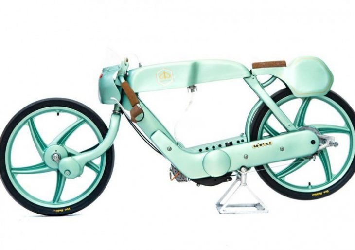 OMT Garage's Mint Green Street Machine: The Piaggio Ciao Moto Racer