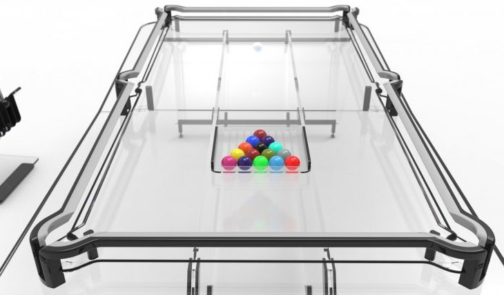 This Transparent Glass Pool Table Is the Perfect Centerpiece for Your Game Room