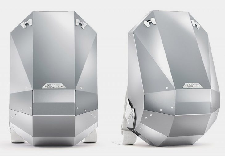 Make a Major Statement With Solid Gray's Aluminum Backpack