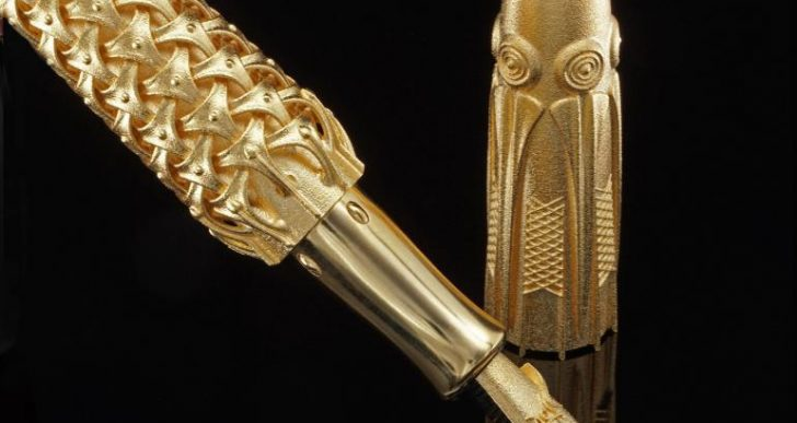 Rein van der Mast's $17K Spica Virginis Is the World's First Solid 3D-Printed Fountain Pen Made from Solid Gold