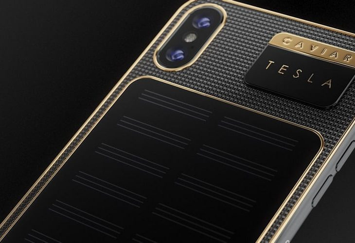 Russian Luxury Customization Firm Caviar Builds an iPhone X That Can Charge Itself