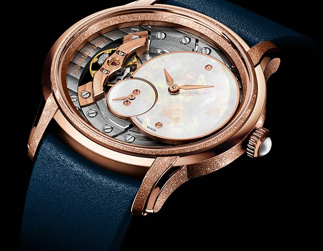 Audemars Piguet Revamps Ladies' Millenary Collection with Second-Skin Straps, Frosted Gold Edition